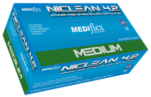 Niclean 4.2 Powder Free Nitrile Gloves (Medium)