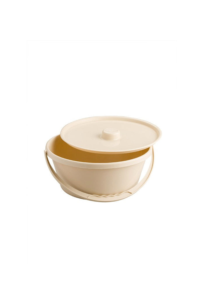 Commode Bowl and Lid (Beige)