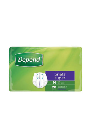 Depend® Briefs Super Unisex (20 pk) - Medium