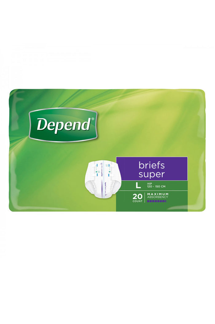 Depend® Briefs Super Unisex (20 pack)