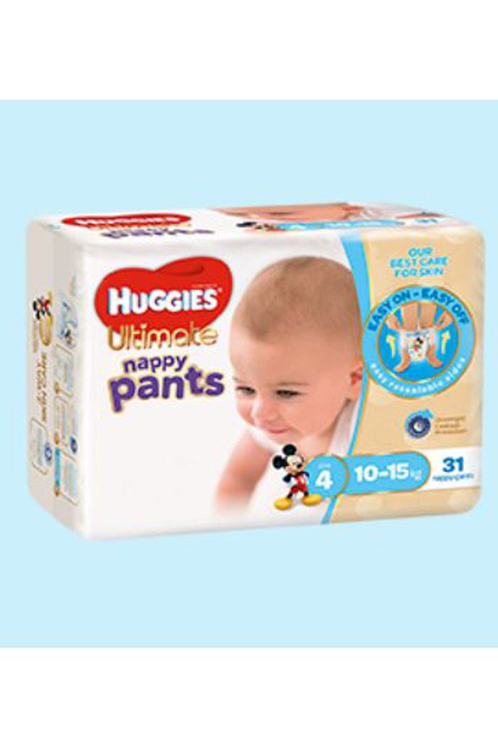 Huggies Ultimate Nappy Pants Size 4 Toddler (10-15kg) Boy (31pk)