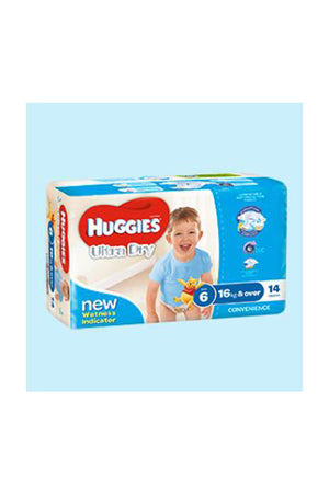 Huggies Ultra Dry Nappies Size 6 Junior (16kg+) Boy (14pk)