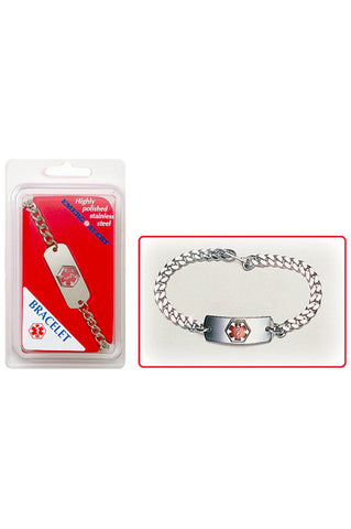 Medical ID Jewellery - Bracelet S/Steel