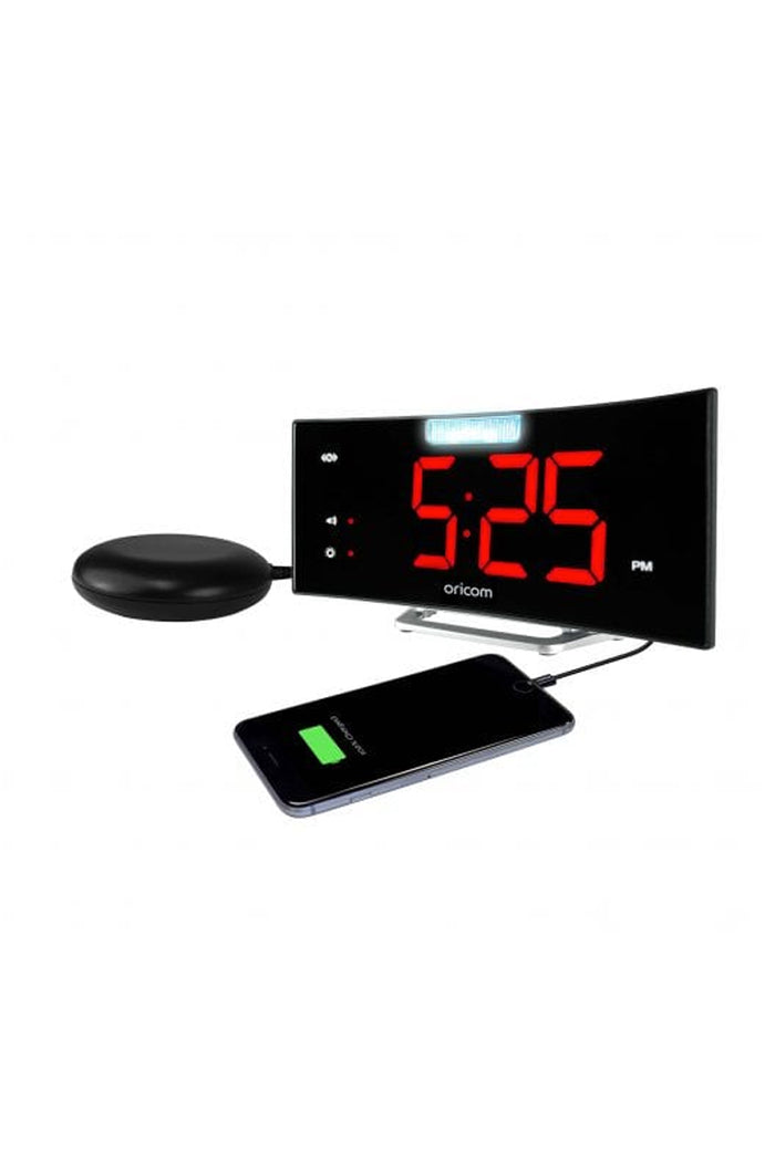 Oricom Wake 'N' Shake Loud Alarm Clock with flashing LED