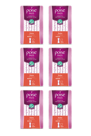Poise® Extra Pads (12 Pack | Bulk Buy 4.79 x 6)