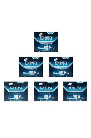TENA Men Guard Level 1 (12 pack | Bulk Buy $6.66 x 6)