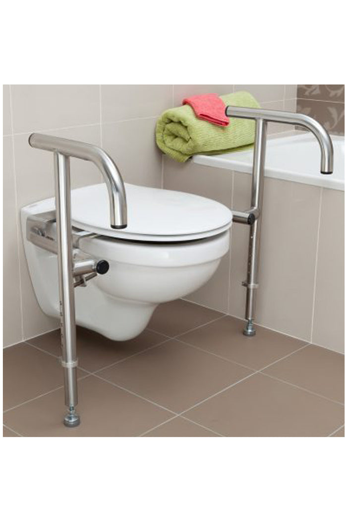 Throne Toilet Rail Stainless Steel Bariatric - 180kg