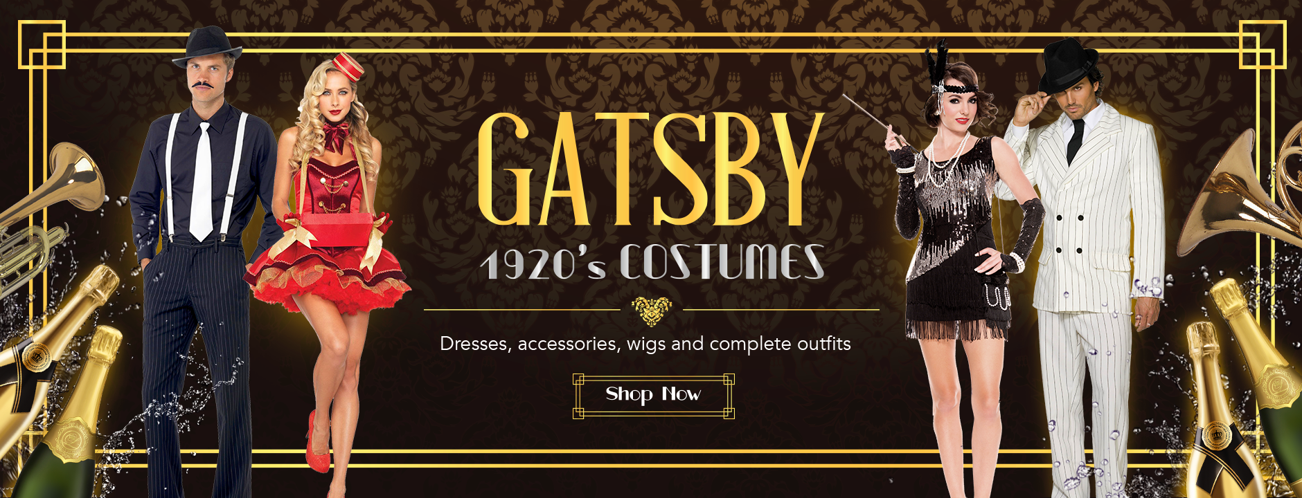 1920's costumes Gatsby fancy dress