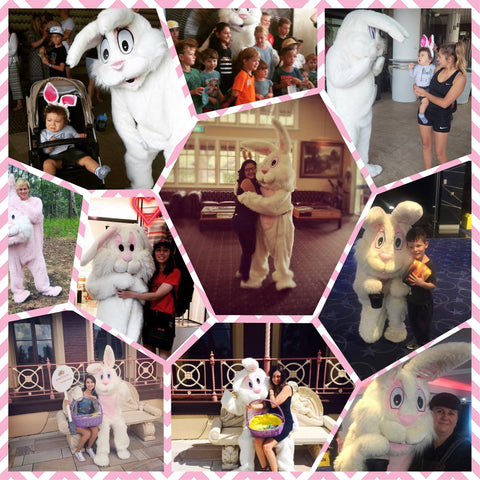 Bunny Mascot Hire Costume brisbane Easter