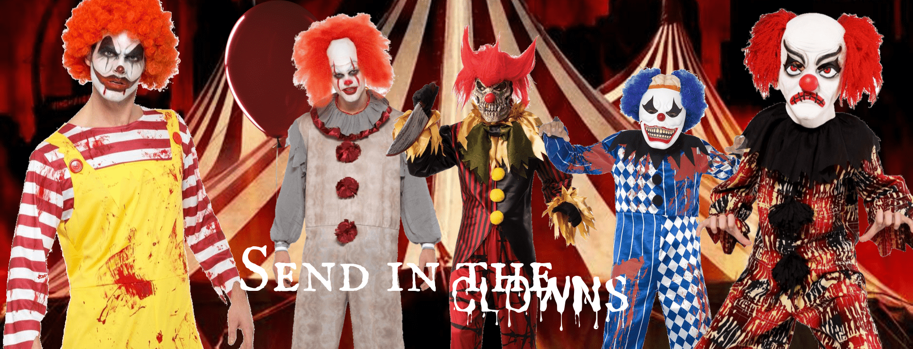 Clown Costumes Pennywise IT Women Men Children Buy Hire Halloween