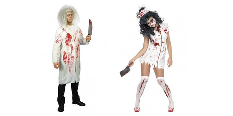 Doctor and Nurse Zombie Halloween Costumes