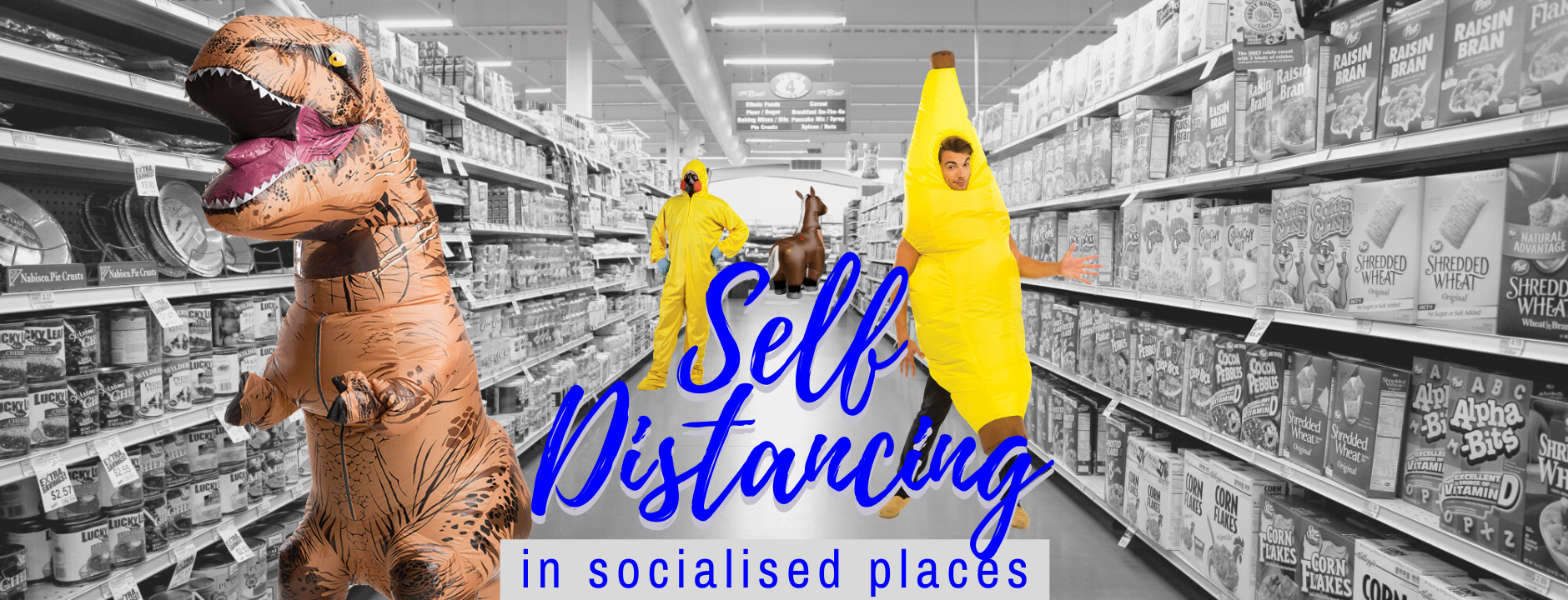 Self Isolation Quarantine Inflatable Costumes Supermarket