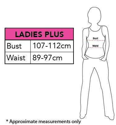 Glinda the Good Witch Womens Plus Costume size chart