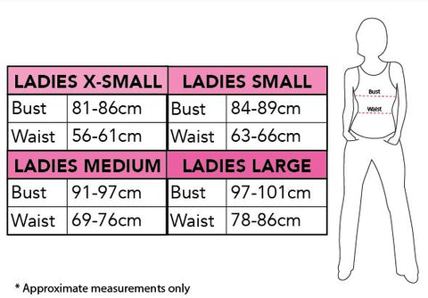 Rubie's Ladies Size Chart