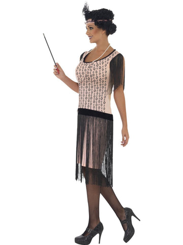 Flapper Coco 1920's Women Fancy Dress Party Gatsby Charleston Fringed Costume