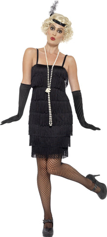 1920's Shorter Fringed Flapper Adult Costume For Sale