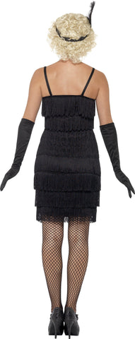 1920's Shorter Fringed Flapper Adult Costume For Sale back