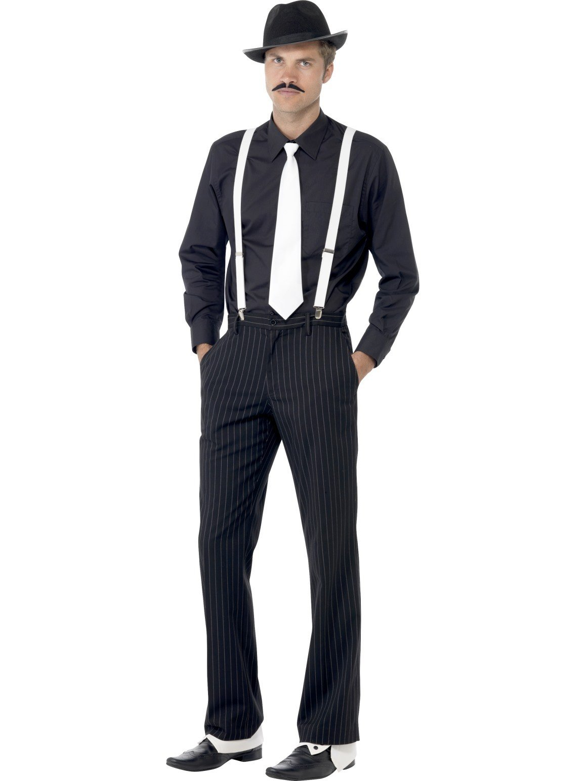 1920s gangster hat and accessories dress up gatsby costume kit. Black Bedroom Furniture Sets. Home Design Ideas