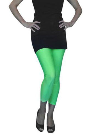 1980's Tights Neon Green Lycra Footless Pantyhose
