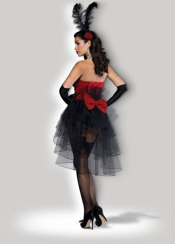 Burlesque Bombshell Showgirl Corset Costume back