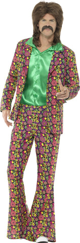 60s 70s Psychedelic CND Peace Sign Disco Suit
