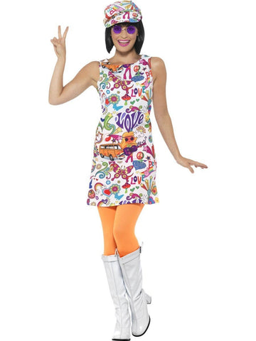 60s Groovy Chick Go Go Girl Ladies Fancy Dress Costume