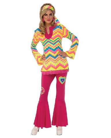 60s Hippie Generation Mod Girl Women's Costume Set