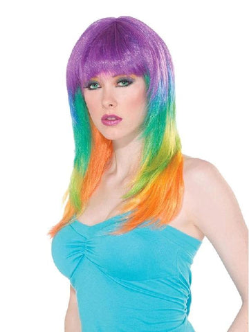 Club Candy Prism Wig for Adults