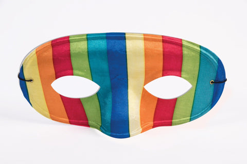 Rainbow Striped Half Mask for Adults