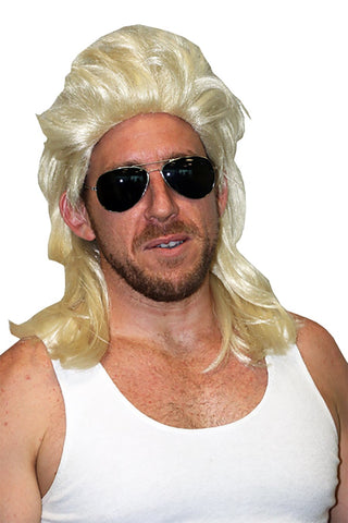 80's Bogan Blonde Mullet Wig Costume Fancy Dress Party Accessory