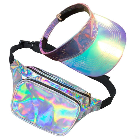 80s Galaxy Bum Bag and Visor Set