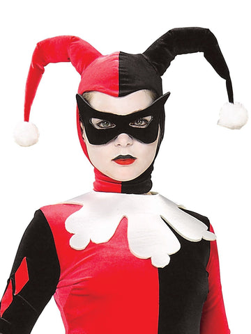 Harley Quinn Comic Book Costume for Women bodice mask headpiece