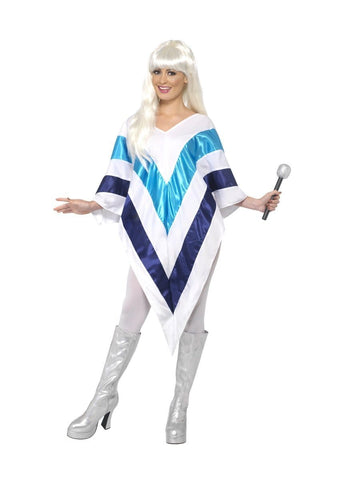 Abba Super Trooper 70s Poncho Costume Party Fancy Dress Up
