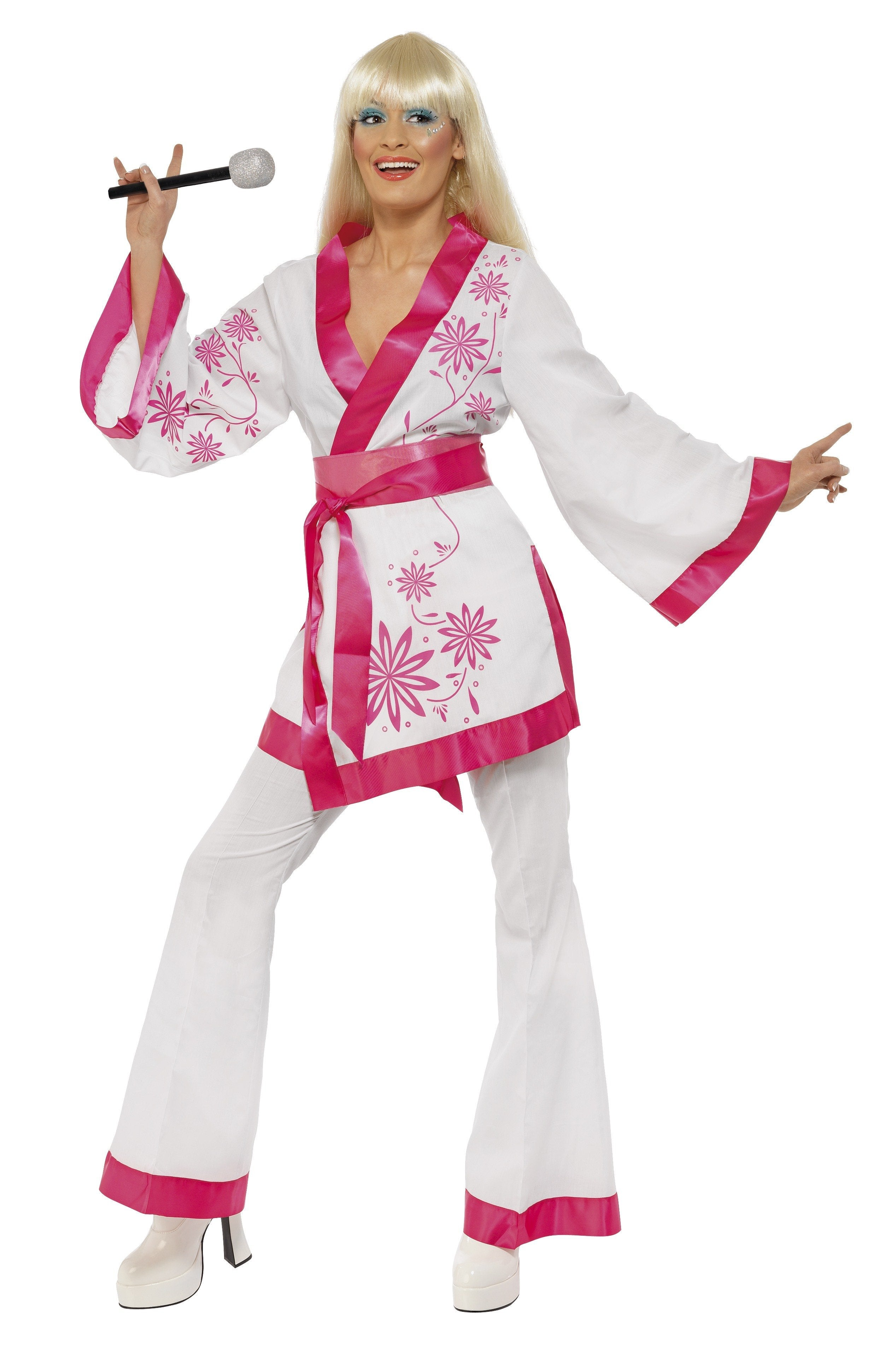 Abba 70s Kimono And Flares Fancy Dress Disco Costume Costumes And