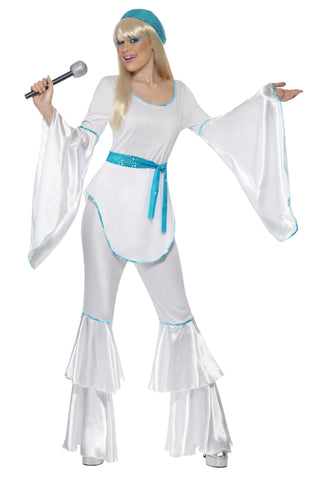 Abba 70s Super Trooper Flares Pant Suit Fancy Dress Costume
