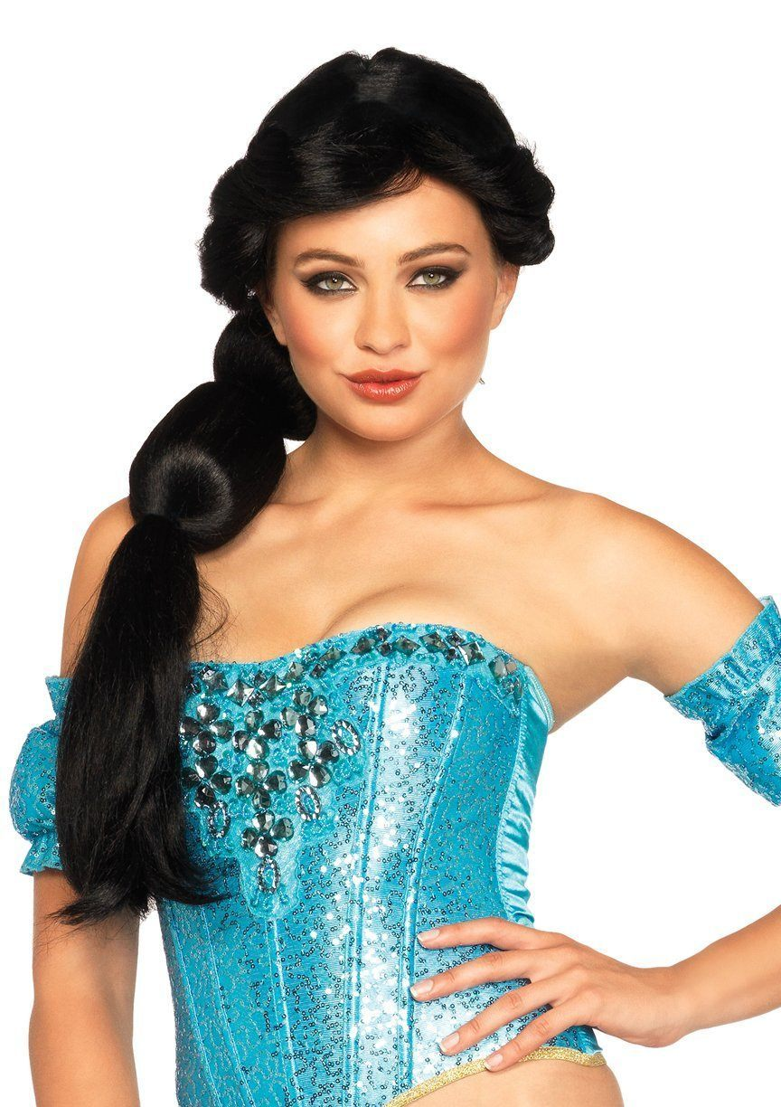 Arabian Beauty Disney Princess Jasmine Black Ponytail Wig