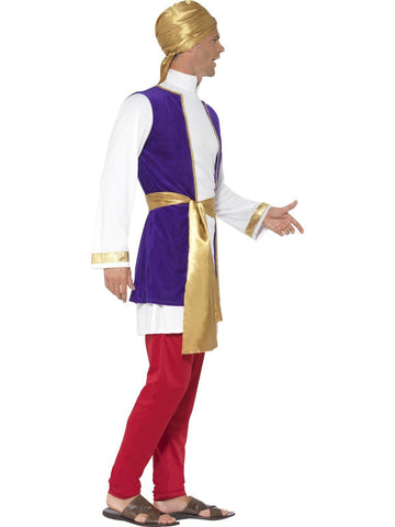 Arabian Nights Prince Aladdin Men's Bollywood Costume side