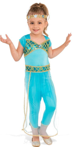 Arabian Princess Deluxe Jumpsuit Girls Fancy Dress Costume