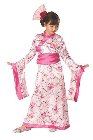 Asian Princess Deluxe Girls Fancy Dress Costume