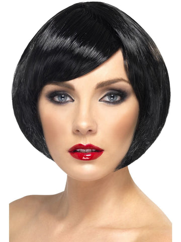 Bob Short Black Straight Wig Womens Costume Fancy Dress Cosplay Hair
