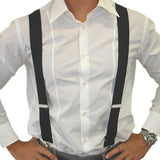 Black Unisex Men Women Braces Adult Suspenders