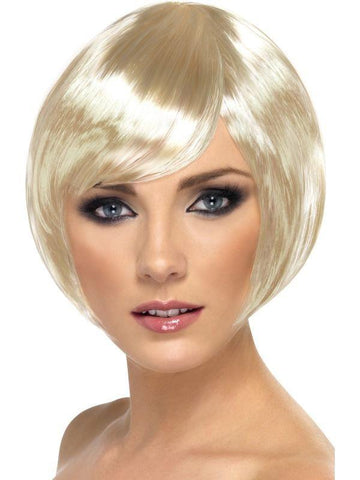Bob Short Blonde Straight Wig Womens Costume Fancy Dress Party Cosplay Hair