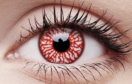 Blood Shot Vampire Eyes Halloween Contact Lenses 1 Day Single Use