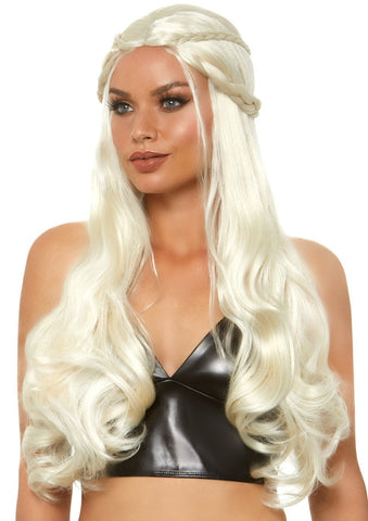 Braided Long Wavy Blonde Mother of Dragons Wig