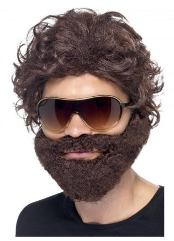 Bucks Night Stag Do Wig and Beard Set