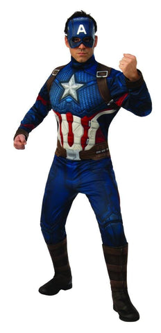 Captain America Avengers Endgame Marvel Superhero Fancy Dress Adult Costume