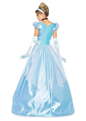 Cinderella Classic Fairytale Princess Ball Gown Costume back