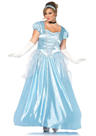 Cinderella Classic Fairytale Princess Ball Gown Curvy Costume