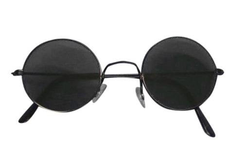 Hippie Dark Round Glasses Rock Star Sunglasses Disguises Costumes Hire Sales