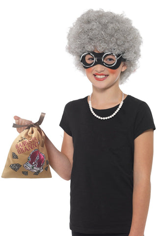David Walliams Gangsta Granny Deluxe Instant Costume Set for Children